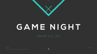 Game Night Become a Sponsor