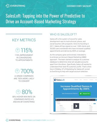 SalesLoft: Tapping into the Power of Predictive to Drive an Account-Based Marketing Strategy