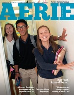 Cover of the 2016 Fall/Winter Edition of Palmer Trinity School's Aerie magazine