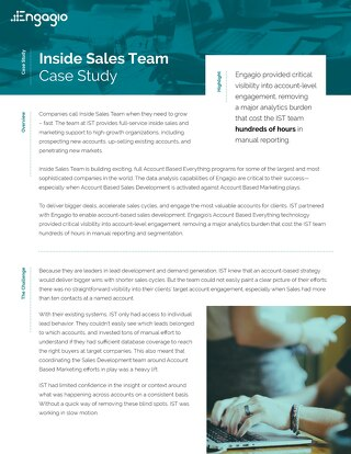 Case Study: Inside Sales Team