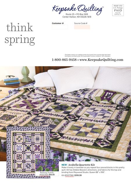 Keepsake Quilting - Almost Spring 2017 : keepsake quilting center harbor nh - Adamdwight.com