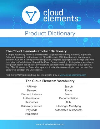 The Cloud Elements Product Dictionary
