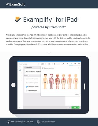 ExamSoft Examplify One Pager