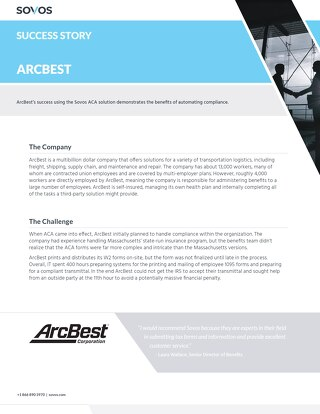 Sovos Success Story: ArcBest