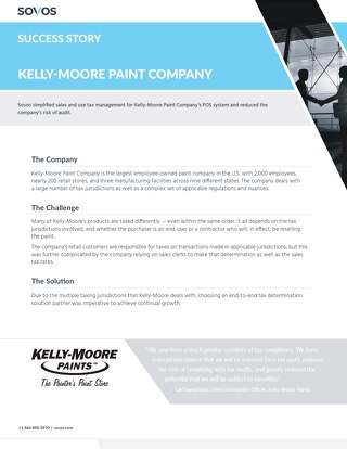 Sovos Success Story: Kelly-Moore Paint Company