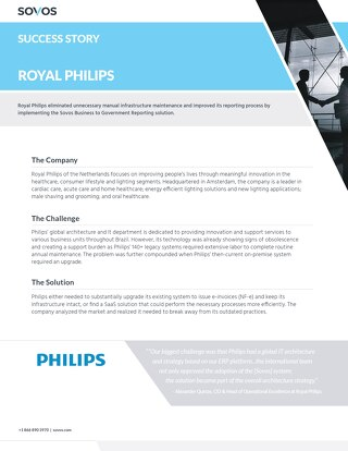 Sovos Success Story: Royal Philips