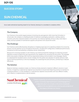 Sovos Success Story: Sun Chemical