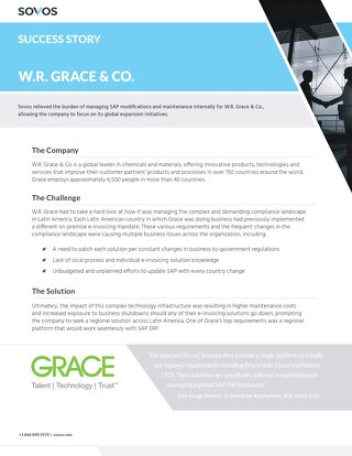 Sovos Success Story: W.R.Grace