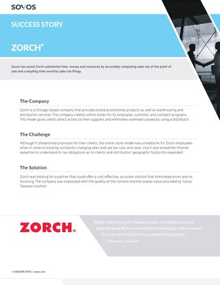 Sovos Success Story: Zorch
