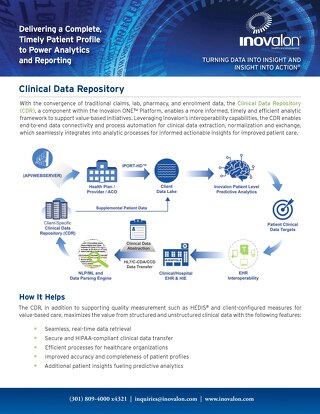 Clinical Data Repository (CDR)