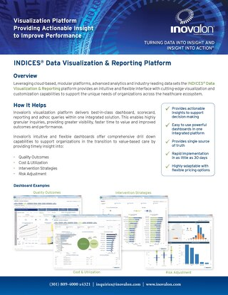 INDICES® Data Visualization & Reporting Platform