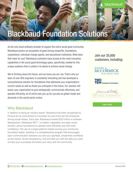 Grantmaking and Outcomes Solution