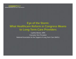 Cynthia Morton: What Healthcare Reform in Congress Means to Long-Term Care Providers