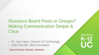 Resource Board Posts or Groups? Making Communication Simple & Clear