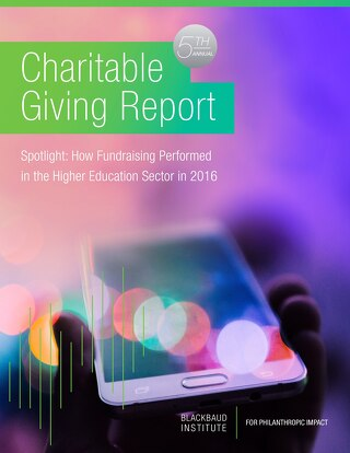 Charitable Giving Report: Higher Education Spotlight