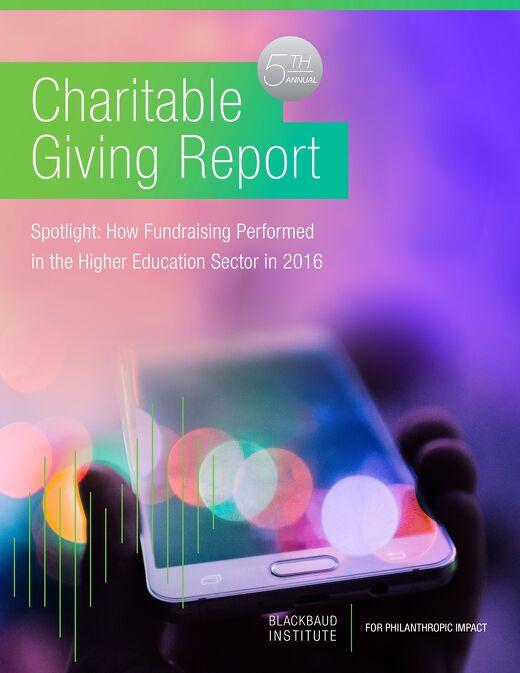 Charitable Giving Report: Higher Education Spotlight