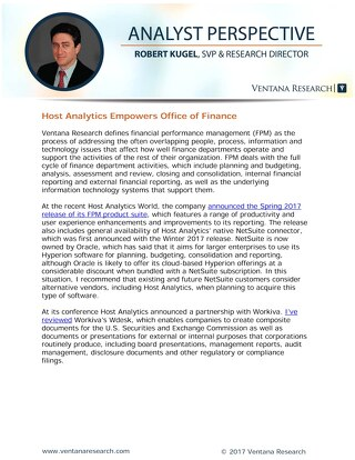 Host Analytics Empowers Office of Finance - Rob Kugel Analyst Perspective