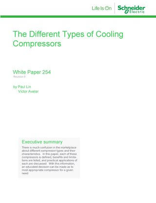 WP 254  - The Different Types of Cooling Compressors