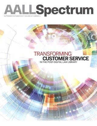AALL Spectrum / September/October 2017 / Volume 22, Number 1