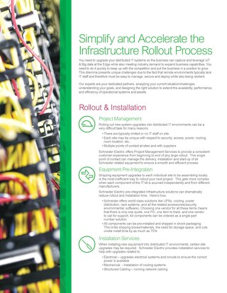 Simplify and Accelerate the Infrastructure Rollout Process