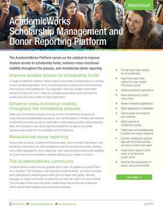 Datasheet: AcademicWorks