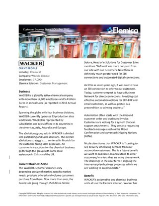 Customer Success Story: Wacker Chemie