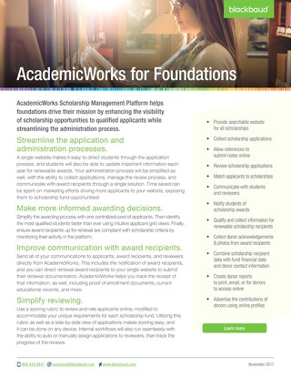 AcademicWorks for Foundations