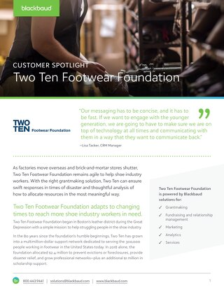 Two Ten Footwear Foundation Customer Story