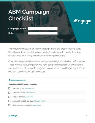 The Engagio Playbook - Design & Orchestrate The Best Account Based