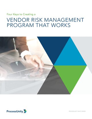 Four Keys to Creating a Vendor Risk Management Program