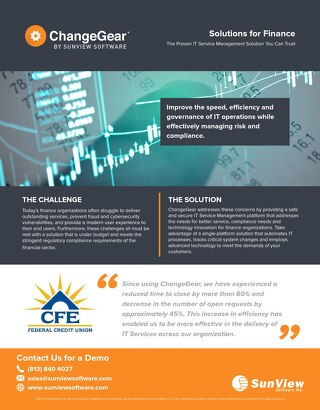 ChangeGear: Solutions for Finance