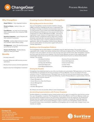 ChangeGear Process Modules