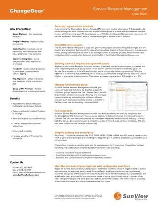 ChangeGear Service Request Management