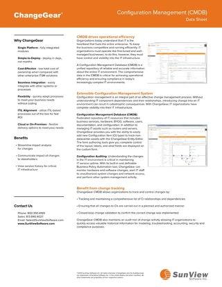 ChangeGear Asset & Configuration Management (CMDB)