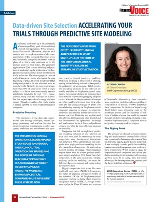 Data-Driven Site Selection: Accelerating Your Trials Through Predictive Site Modeling
