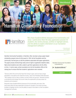 Hamilton Community Foundation and AcademicWorks