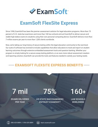 ExamSoft FlexSite Express