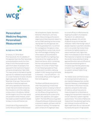 Personalized Medicine Requires Personalized Measurement