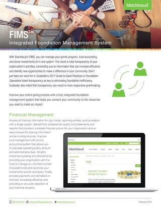 FIMS Datasheet