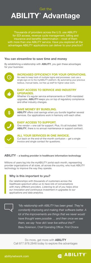 ABILITY Advantage Benefits to Providers