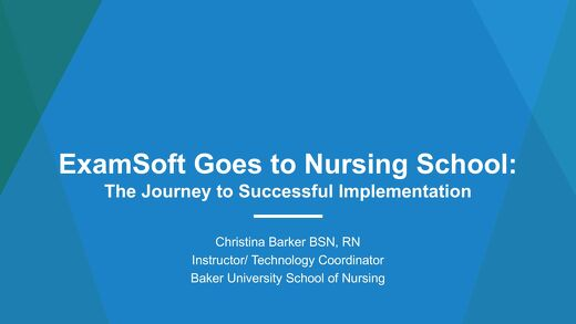 AOT Detroit—ExamSoft Goes to Nursing School
