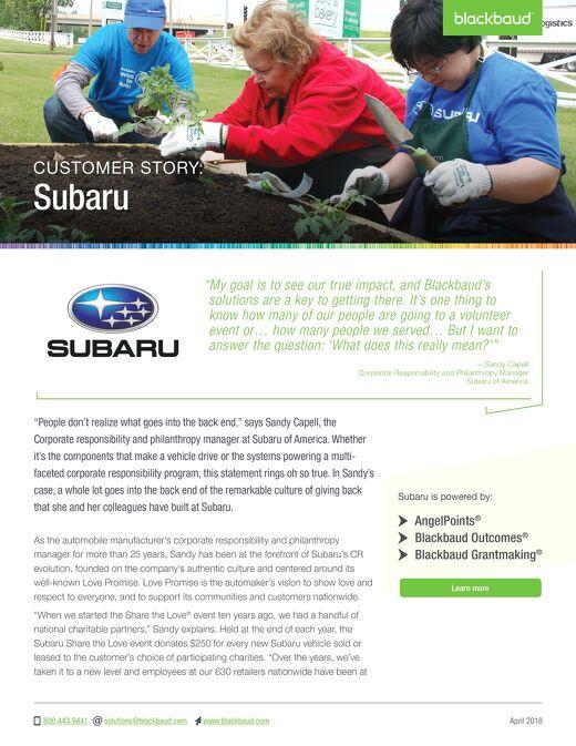 Customer Story: Subaru