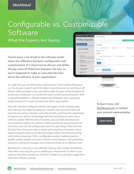 Configuration Vs. Customization: A Technology Guide