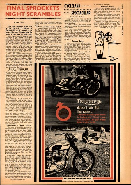Cycle News - Archive Issues - 1960's - Cycle News 1967 09 28