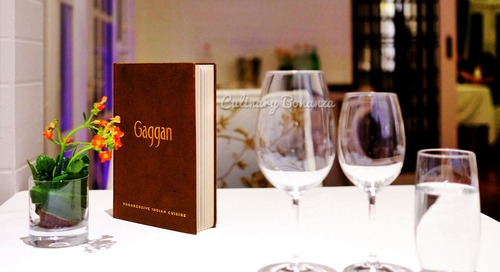 Dining at GAGGAN - Progressive Indian Cuisine