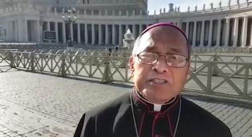 Apuron spotted in YouTube video in Rome