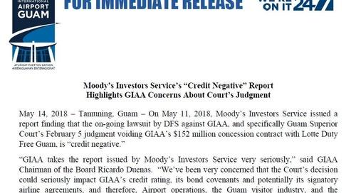 Moody's report concerns Guam airport