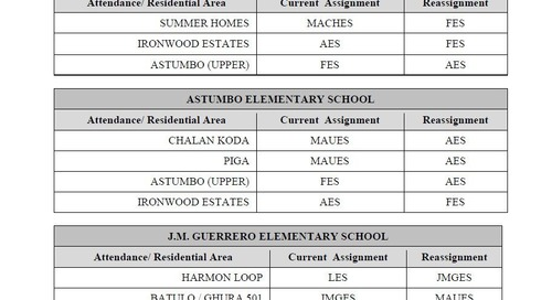 Reassignment of attendance areas approved