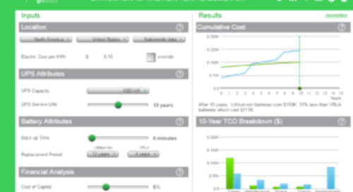 Good Decision Making is Crucial in Data Center Planning: TradeOff Tools Can Help