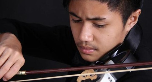 A magnificent violin performance by Fakhri Bagus Pratama, for UNICEF